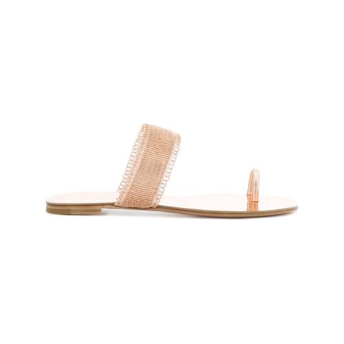 Bild på Casadei bead strap sandals - Metallic