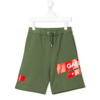 Gaelle Paris Kids patch appliqué track shorts - Green