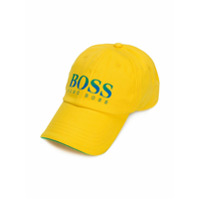 Boss Kids Brasil logo print baseball cap - Yellow & Orange