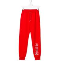Gaelle Paris Kids studded track pants - Red