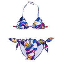 Mc2 Saint Barth Kids floral print bikini - Blue