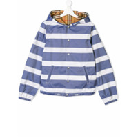 Burberry Kids TEEN reversible jacket - Blue