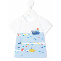 Familiar sea print T-shirt - White