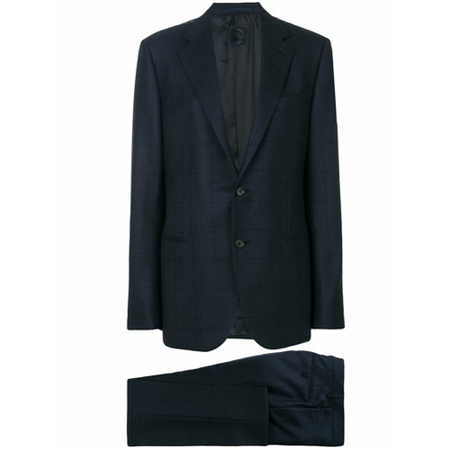 Billede af Caruso checked two piece suit - Blue