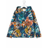 Gucci Kids animal faces print hooded jacket - Multicolour