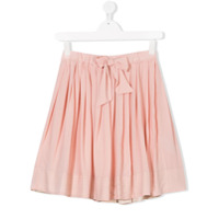 Bellerose Kids TEEN bow front pleated skirt - Pink & Purple