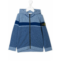 Stone Island Junior striped hoodie - Blue