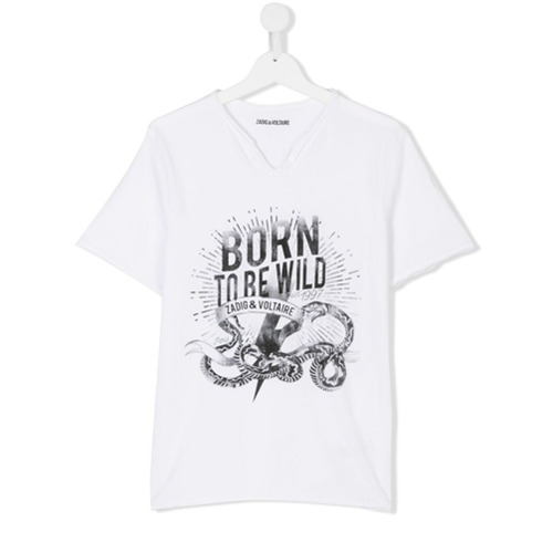 Billede af Zadig & Voltaire Kids Born to be Wild print T-shirt - White