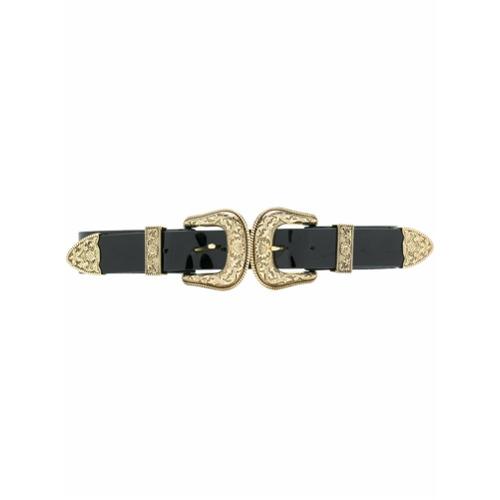 B-Low The Belt double Western buckle belt - Black