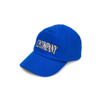 Cp Company Kids brand embroidered cap - Blue