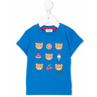 Moschino Kids printed T-shirt - Blue