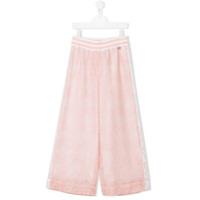 Simonetta TEEN lace palazzo pants - Pink & Purple