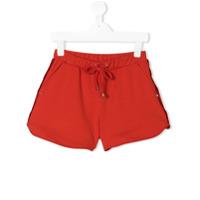 Elisabetta Franchi La Mia Bambina frayed detail shorts - Yellow & Orange
