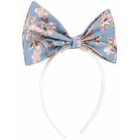 Hucklebones London brocade bow hairband - Blue