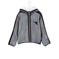 Diadora Junior zipped mesh jacket - Black