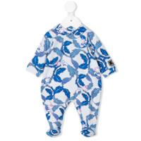 Young Versace teddy print pyjamas - Blue