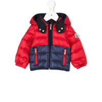 Moncler Kids padded hooded jacket - Red