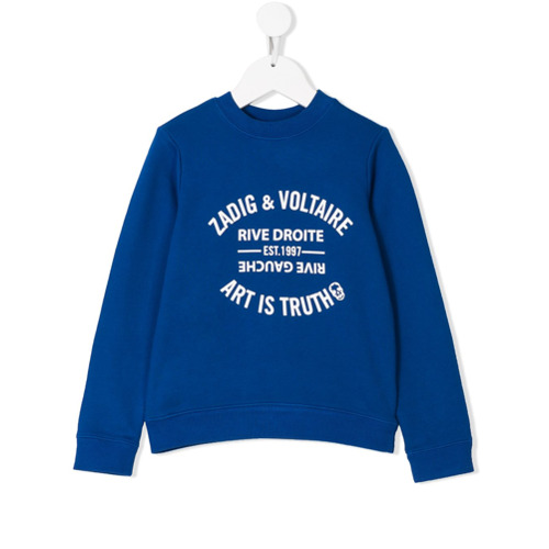 Billede af Zadig & Voltaire Kids Art Is Truth print sweatshirt - Blue