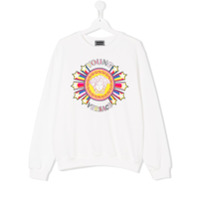 Young Versace TEEN Medusa print sweatshirt - White