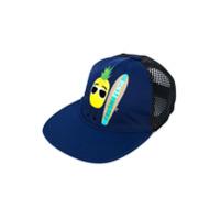 Fendi Kids pineapple print baseball cap - Blue