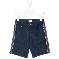 Armani Junior side-striped denim shorts - Blue