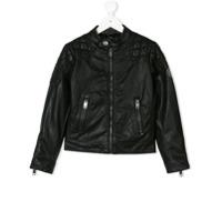 Diesel Kids faux leather jacket - Black