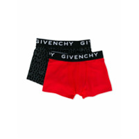 Givenchy Kids logo waistband set of boxer shorts - Red