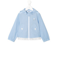 Familiar lightweight hooded jacket - Blue