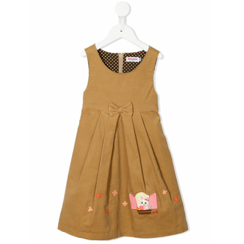 Miki house bunny embroidered dress brown von