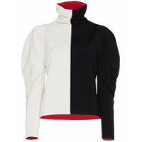 Haider Ackermann Colour Block Turtle Neck Jumper - Black
