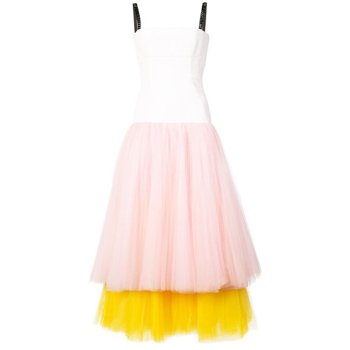 Billede af Carolina Herrera ballerina midi dress - Multicolour