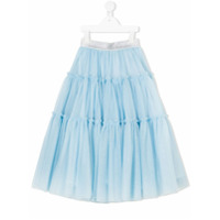Monnalisa long tiered skirt - Blue