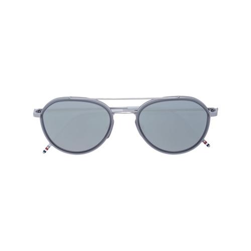 Bild på Thom Browne Eyewear aviator mirror sunglasses - Metallic