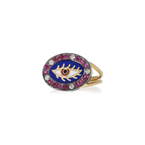 Billede af Holly Dyment 18k yellow gold Americana eye ring - Metallic