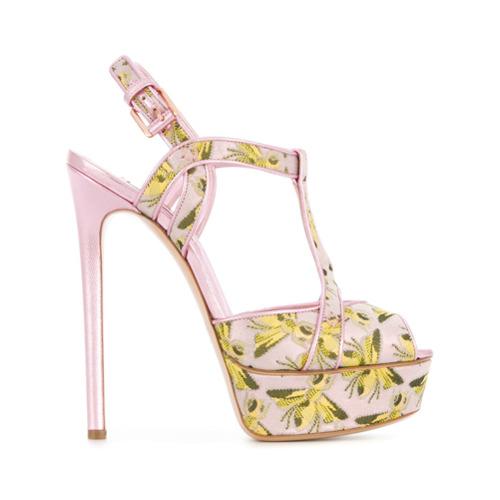 Bild på Casadei bee print platform sandals - Pink & Purple