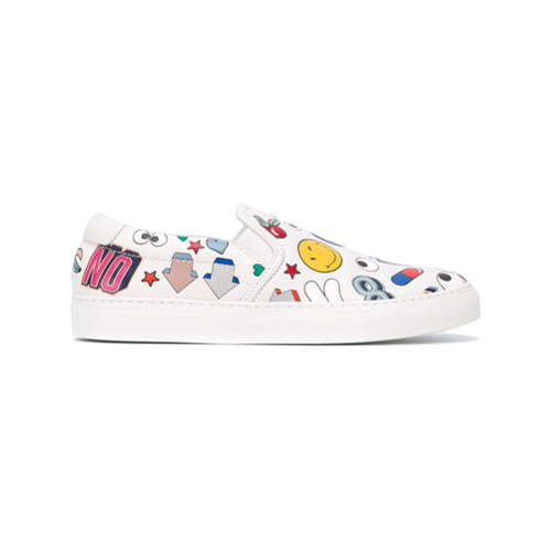 Billede af Anya Hindmarch 'All Over Stickers' sneakers - White