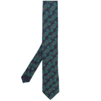 Prada pineapple print tie - Blue