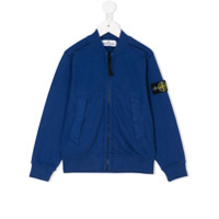 Stone Island Junior knit zip-up top - Blue