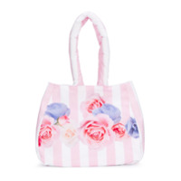 Lapin House striped floral print bag - Pink & Purple