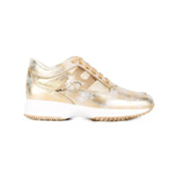 Hogan lace-up sneakers - Metallic