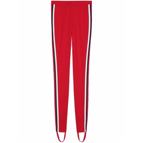 Imagen principal de producto de Gucci leggins estilo fuseau con motivo Web - Rojo - Gucci