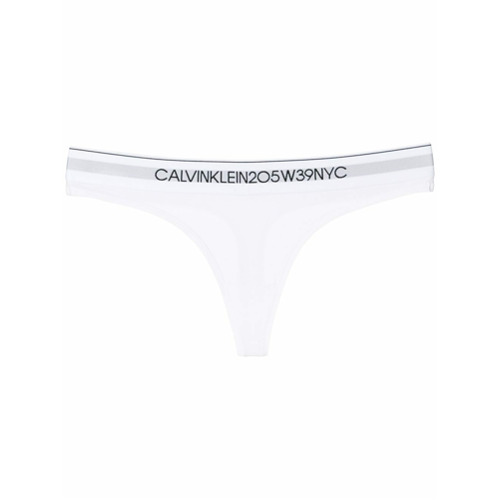 Imagen principal de producto de Calvin Klein Underwear bragas con banda con logo - Blanco - Calvin Klein