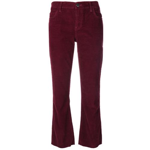 Imagen principal de producto de Current/Elliott pantalones de pana con cordones - Rojo - Current/Elliott