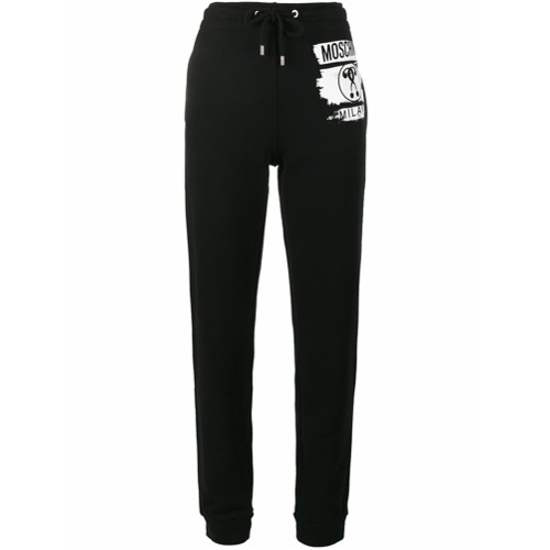 Imagen principal de producto de Moschino pantalones de chándal con estampado de signo de interrogación - Negro - Moschino