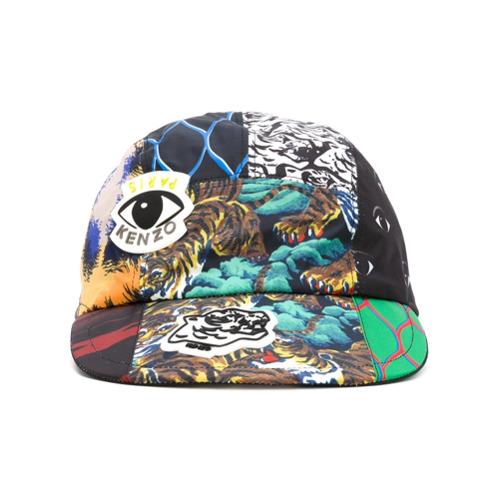 Kenzo gorra de béisbol con varios iconos - Negro