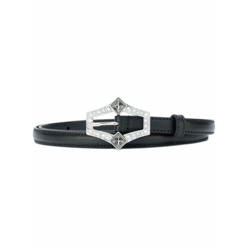 Imagen principal de producto de Prada cinturón fino con hebilla - Negro - Prada