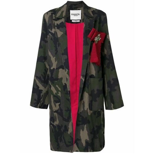 Imagen principal de producto de Essentiel Antwerp abrigo Poetic - Verde - Essentiel Antwerp