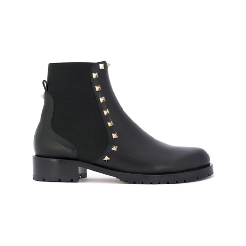 Imagen principal de producto de Valentino botas Rockstud Beatle Valentino Garavani - Negro - Valentino
