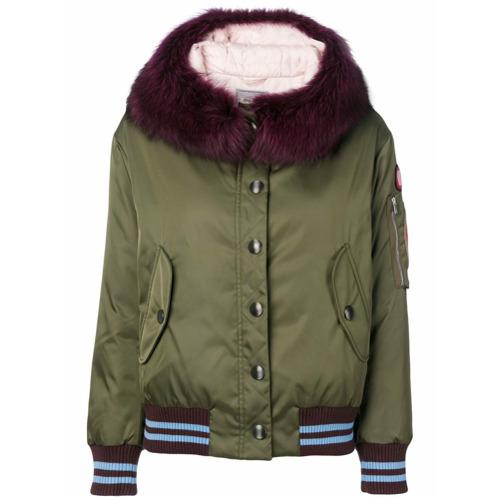 Imagen principal de producto de Miu Miu chaqueta acolchada con capucha - Verde - Miu Miu