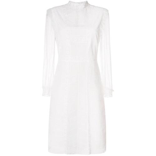 Imagen principal de producto de Burberry vestido con paneles de encaje - Blanco - Burberry